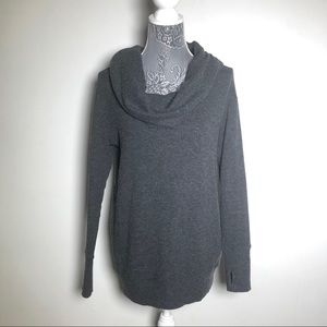 Michael Stars Gray Cowl Neck Sweater